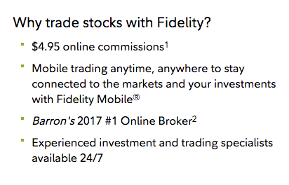 Fidelity Commissions