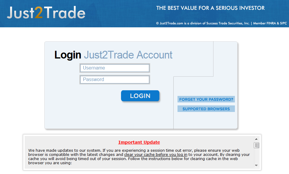 Just2Trade Discount Stock Broker Review