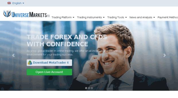 UniversemarketsFX – FX and CFDs. Binary Options Too?